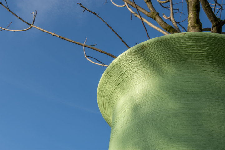 'Dutch architects plant trees into huge 3D printed sample tubes'