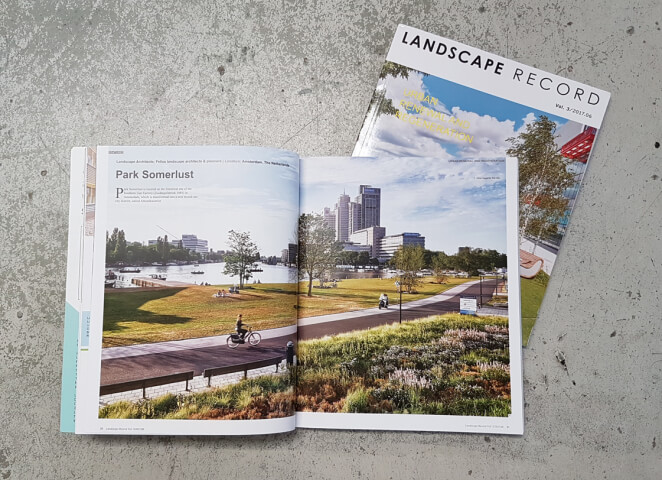 Park Somerlust featured in Landscape Record magazine